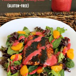 Blackened Salmon Salad with Huckleberry Vinaigrette {Gluten-free}