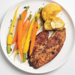 Blackened Tilapia With Buttered Carrots