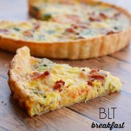 BLT Breakfast Quiche Recipe