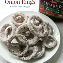 Blue Cornmeal Baked Onion Rings