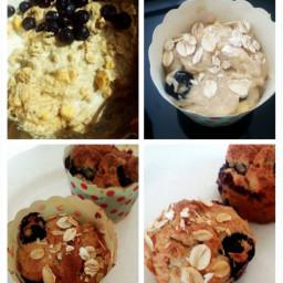Blueberry Banana Oat Muffin (eggless)