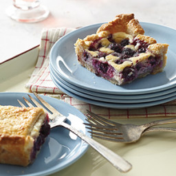 Blueberry-Coconut Cream Slab Pie