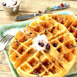 Blueberry Cornmeal Waffles