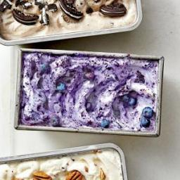 Blueberry-Lemon Zest Ice Cream