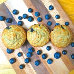 Blueberry Banana Flax Muffins with Coconut Oil