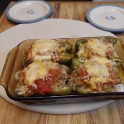 Bob's Beef Stuffed Peppers with Tomato Gravy
