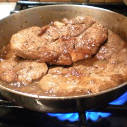 Boneless Pork Loin Chops with Onion Marmalade