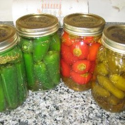Bottled Vinegar Peppers (by Carmela Cee Stanco)