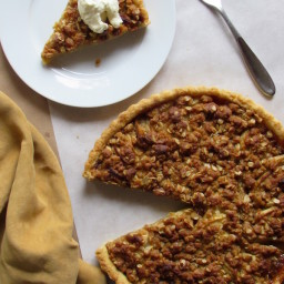 Bourbon Apple Tart with Brown Sugar Crumble
