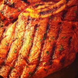 Bourbon-Barbecued Rib-eye