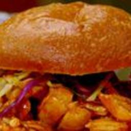 Bourbon BBQ Pulled Chicken Sandwiches and Green Apple Slaw