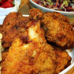 Bourbon Brined Fried Chicken