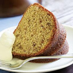 Bourbon-Glazed Brown Sugar Pecan Poundcake