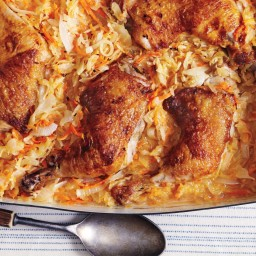 Braised Chicken Legs in Sauerkraut