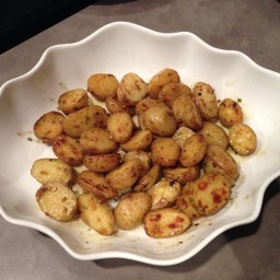 Braised New Potatoes with lemon and chives