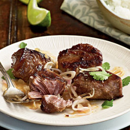 Braised Pork with Tangy Shallot Sauce