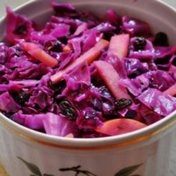 Braised Red Cabbage with Apples and Raisins
