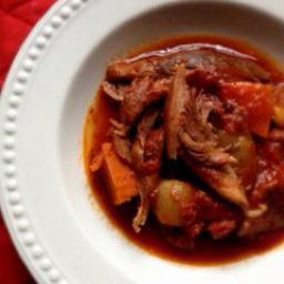 Braised ribs in tomato sauce