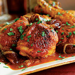 Braised Chicken Legs with Carrot Juice, Dates and Spices