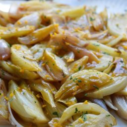 Braised Fennel and Shallots with Parsley and Orange Zest