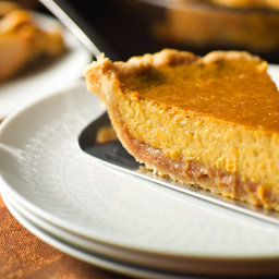 Brandied Pumpkin and Chestnut Pie