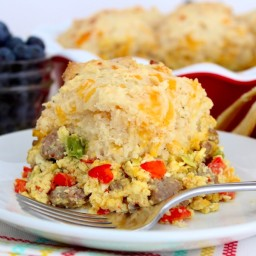 Breakfast Biscuit Pot Pie