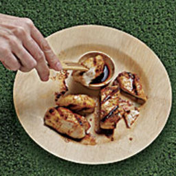 Brined Grilled Chicken Breasts with Red Chile Oil