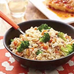 Broccoli-Almond Rice