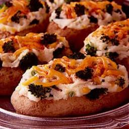 Broccoli Cheese Twice-Baked Potatoes Recipe