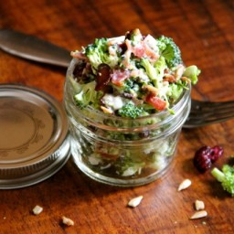 Broccoli Salad with Sunflower Seeds and Cranberries
