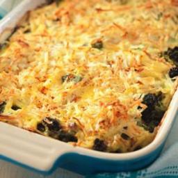 Broccoli, Beef  and  Potato Hotdish