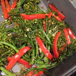 Broccolini and red pepper