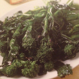 Broccollini, grilled with Balsamic Vinegar and Pine Nuts