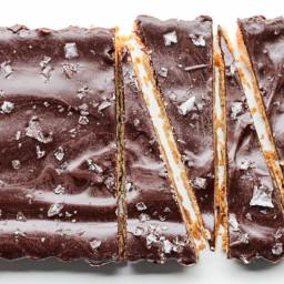 Brown Butter Shortbread with Dark Chocolate + Sea Salt