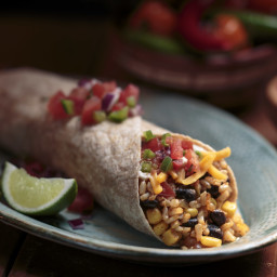 Brown Rice and Black Bean Burrito