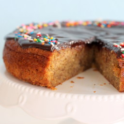 Browned Butter Banana Cake with Chocolate Ganache