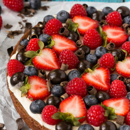 Brownie Berry Dessert Pizza