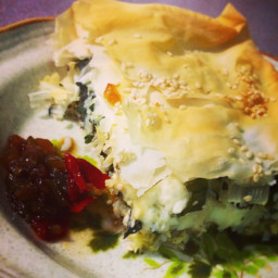 Browns Feta and Silverbeet Pie
