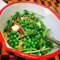 Browns pea & prosciutto salad