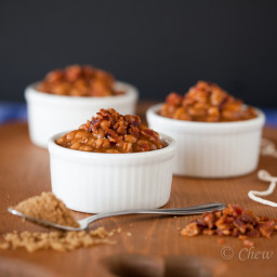 Brown Sugar Baked Beans with Bacon