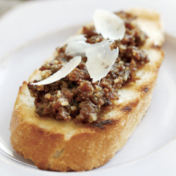 Bruschetta with Fig  and  Walnut Anchoiade (Figs and Anchovies)