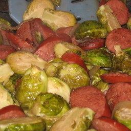 Brussel Sprout and Sausage Saute'