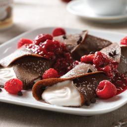 Buckwheat Crepes with Whipped Coconut Cream
