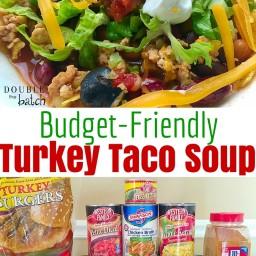 Budget Friendly Turkey Taco soup
