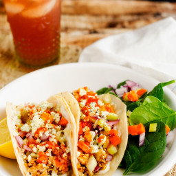 Buffalo Chicken Quinoa Wraps