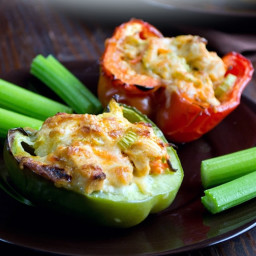 Buffalo Chicken Stuffed Peppers