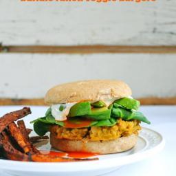 Buffalo Ranch Veggie Burgers