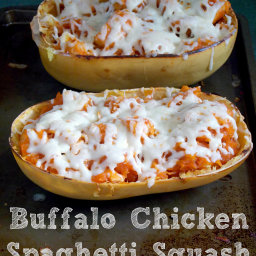Buffalo Chicken Spaghetti Squash Recipe