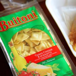 Buitoni three cheese ravioli