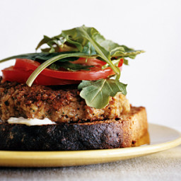 Bulgur Veggie Burgers with Lime Mayonnaise